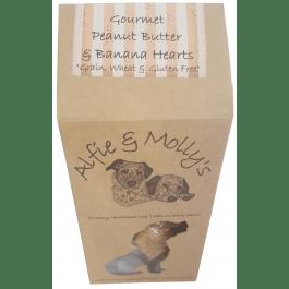 Gourmet Peanut Butter & Banana Hearts - Grain, Whean & Gluten Free