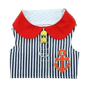 Sailor Boy Fabric Harness with Matching Lead Size Small