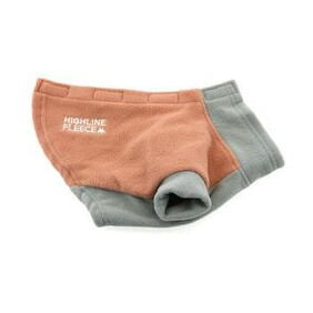 Highline Fleece Dog Coat (coral and grey size 14) (Step-in Style)
