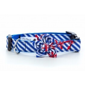Anchors Away Flower Collar size medium 11-13 inches
