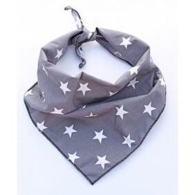 """Value range grey star dog bandana - S/M - neck size 9-17"""""""